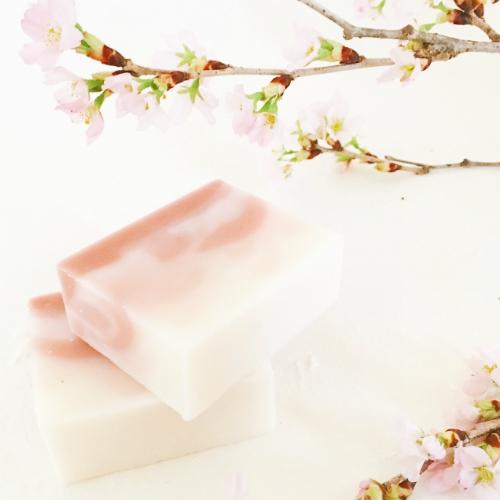 桜色の石けん